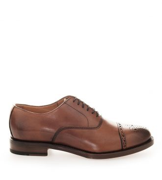 smooth calfskin oxford brogues