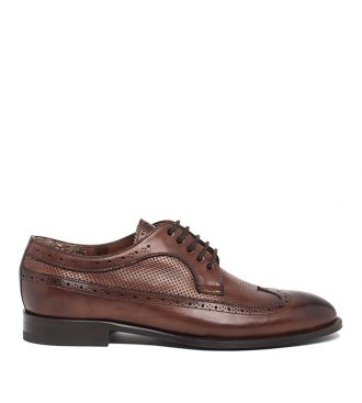 perforated derby brogues