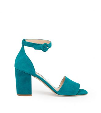 suede high heel sandals