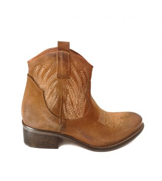 brown split calfskin texan boots