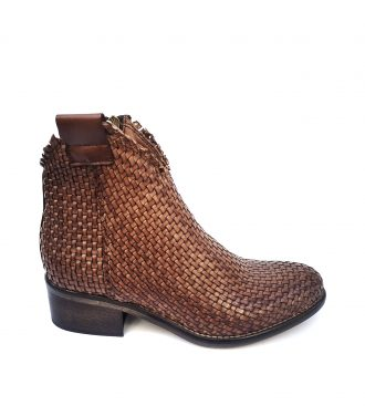 brown hand woven texan boots