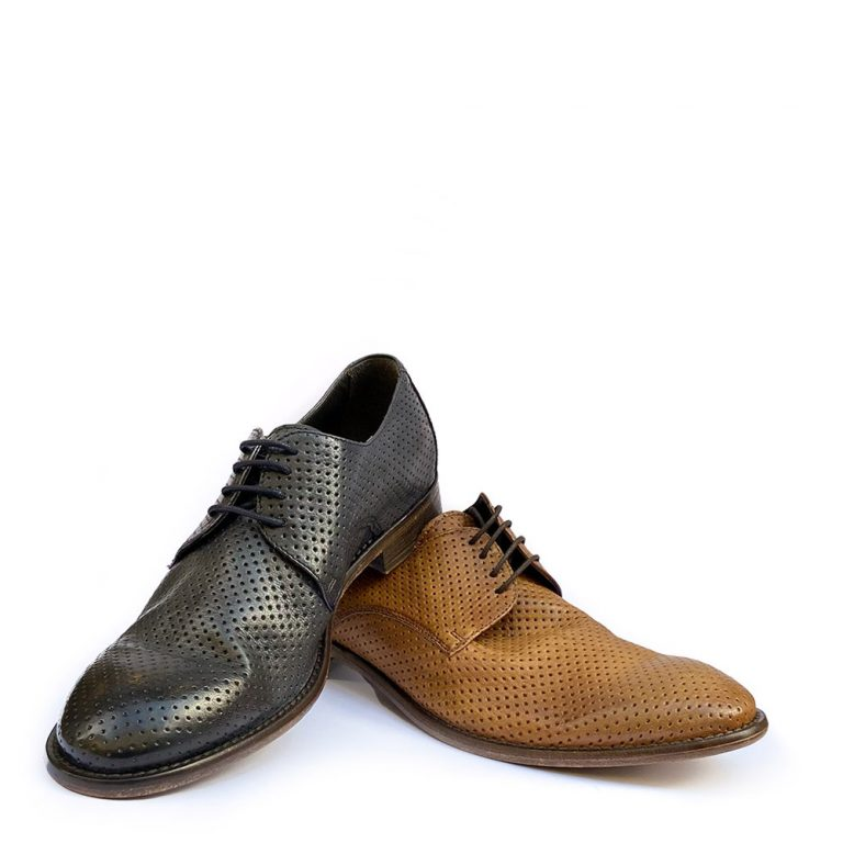 perforated soft calfskin derby