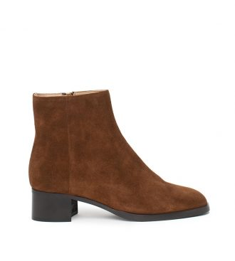 suede zip ankle boots