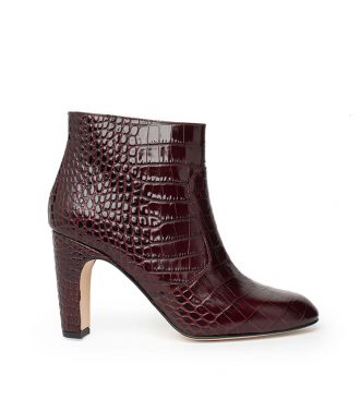 crocodile embossed ankle boots