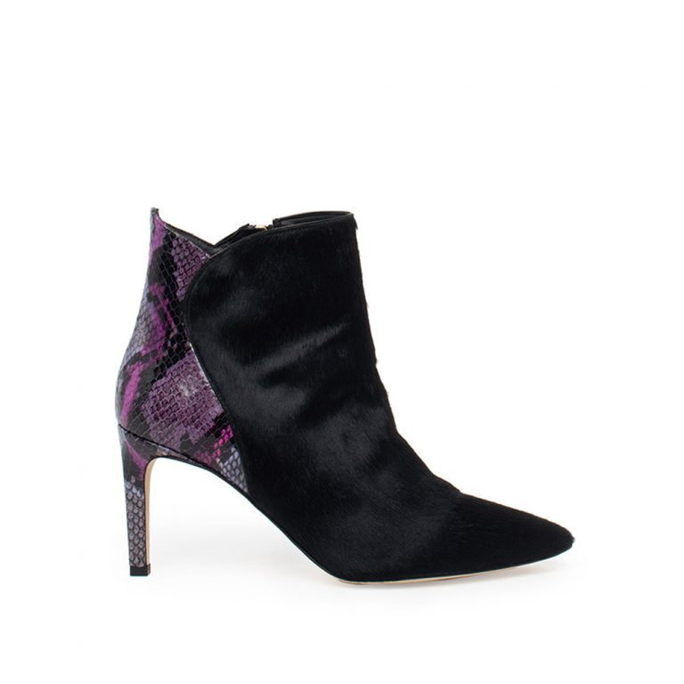 python embossed ankle boots