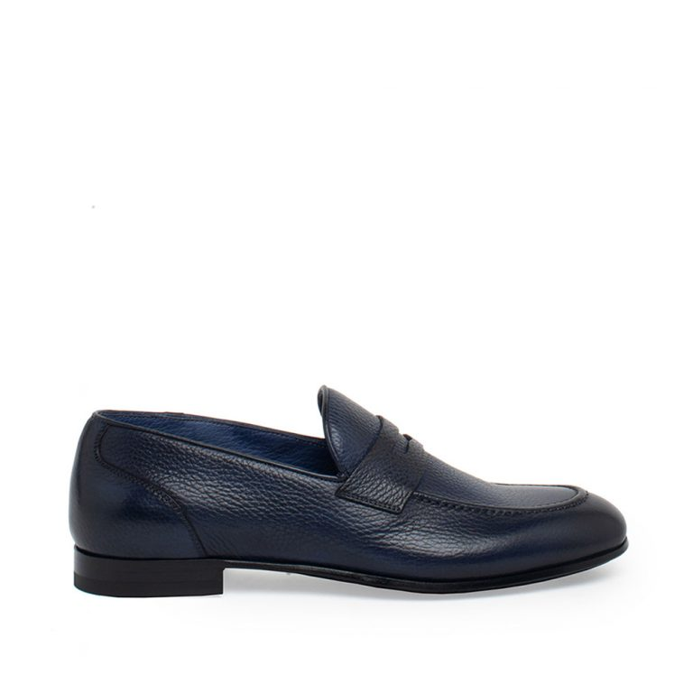 tumbled deerskin loafers