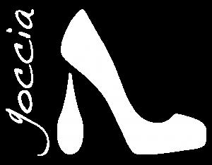 Goccia logo white