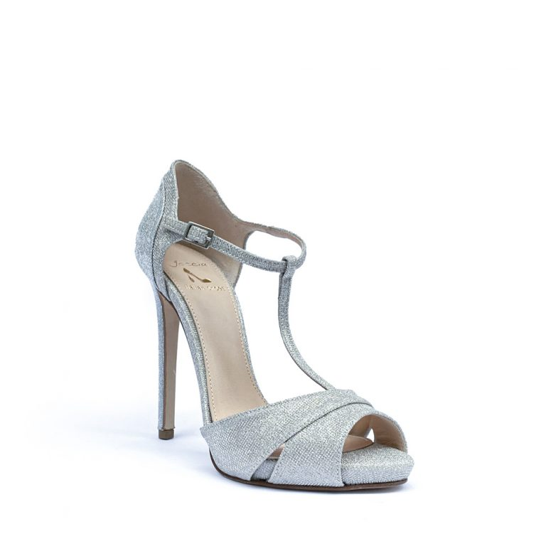 fabric stiletto sandals