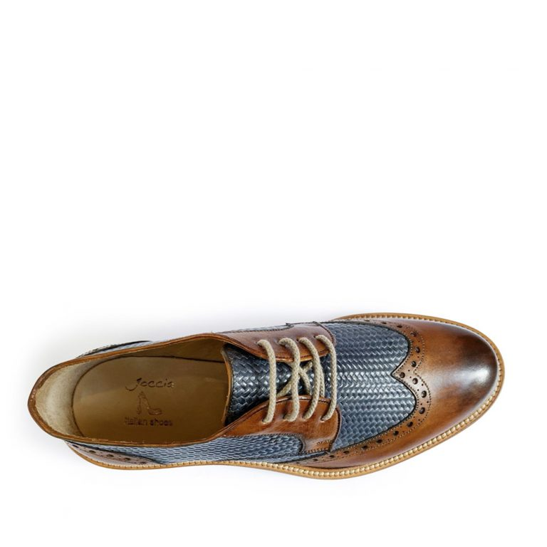 woven derby brogues