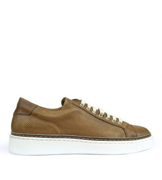 perforated calfskin sneakers