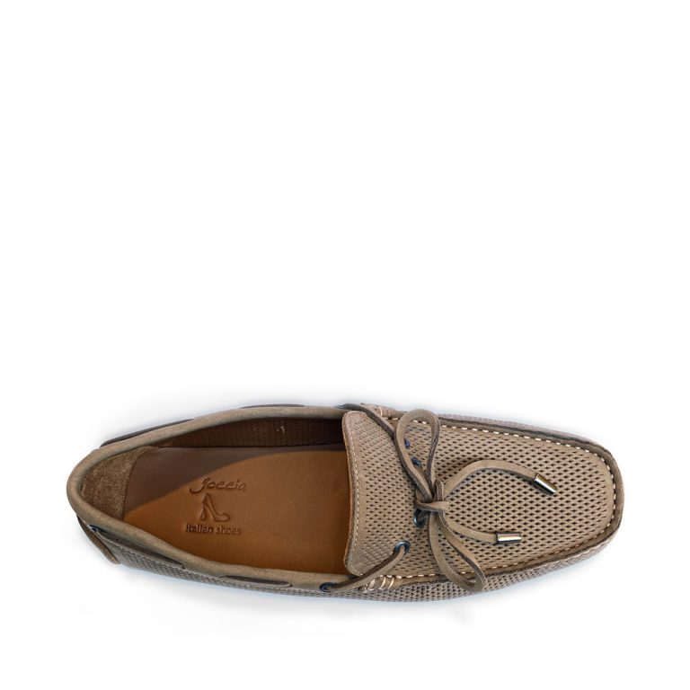 perforated nubuck loafers