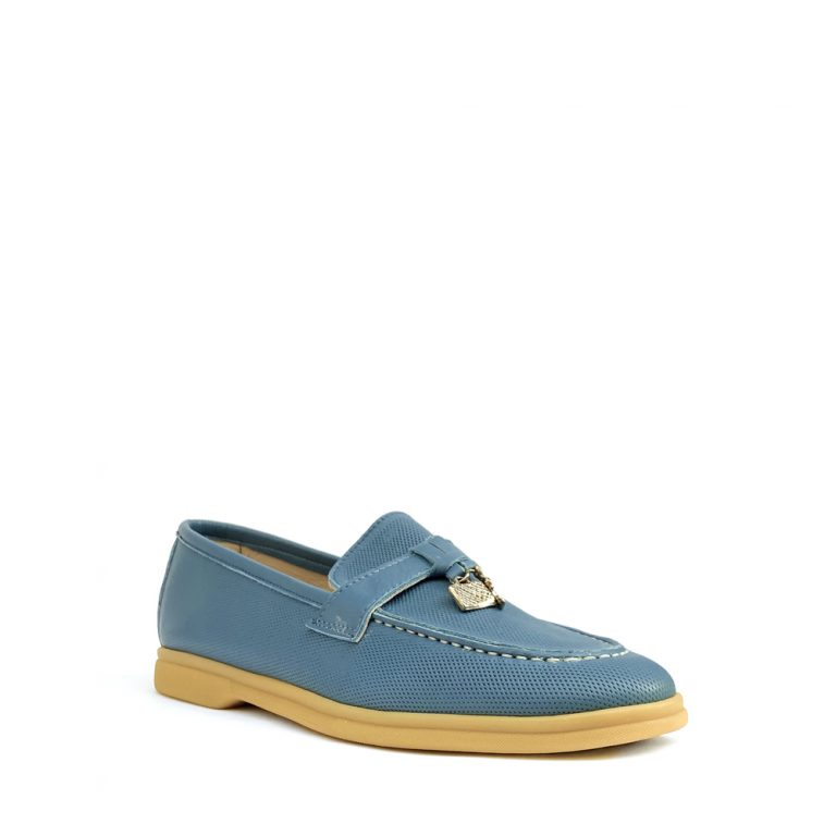 perforated calfskin loafers
