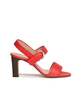 soft calfskin mid-heel sandals