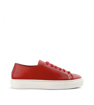 raw edge deerskin sneakers